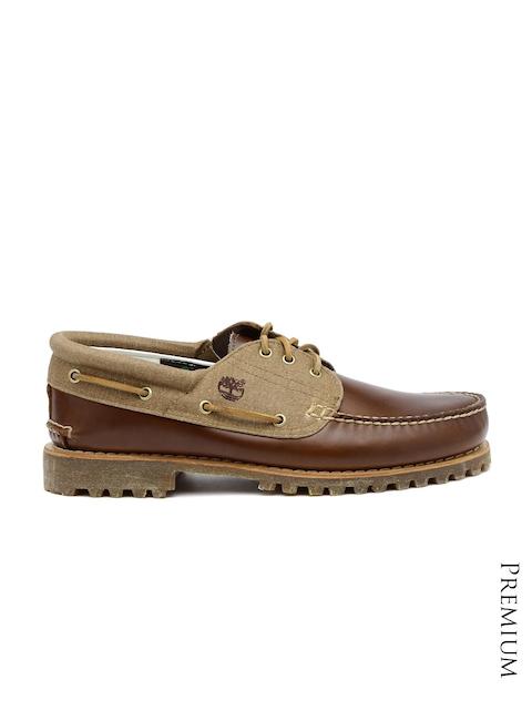 Timberland Men Brown 3 Eye Boat Shoes