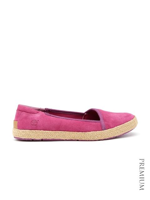 Timberland Women Pink Suede Espadrilles