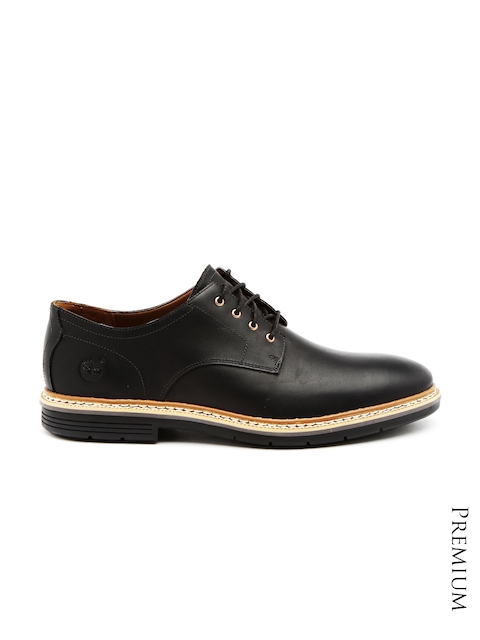 Timberland Men Black Leather Derby Semiformal Shoes