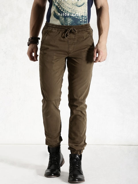 Roadster Brown Jogger Trousers