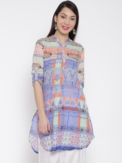 Global Desi Women Multicoloured Printed Straight Kurta  available at myntra for Rs.559