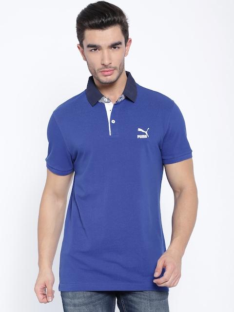 PUMA Blue Slim Fit Polo T-shirt