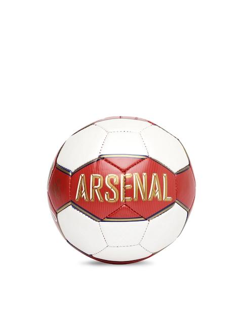 PUMA Unisex White & Red Arsenal Fan Mini Football