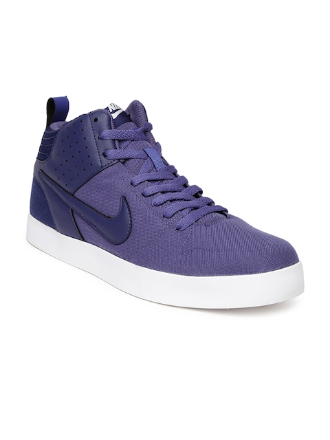 Nike Men Purple Liteforce III Mid NSW Sneakers  available at myntra for Rs.2401