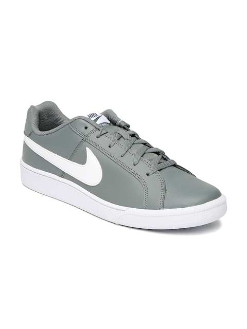 Nike Men Grey Court Royale NSW Leather Sneakers  available at myntra for Rs.2747