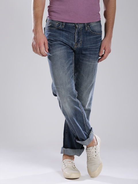 GUESS Blue Washed Desmond Relaxed Straight Fit Jeans