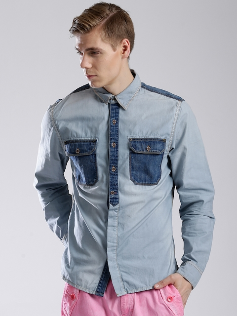 GUESS Blue Denim Shirt