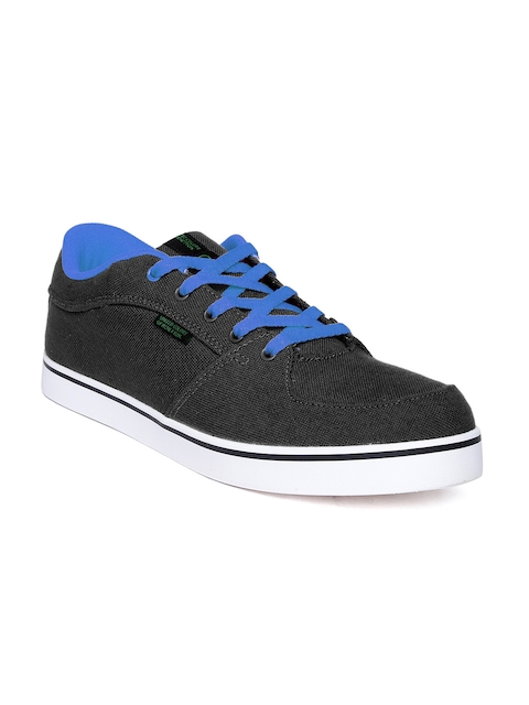 United Colors of Benetton Men Black Canvas Shoes