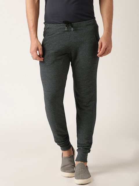 ether Men Charcoal Grey Melange Jogger Track Pants