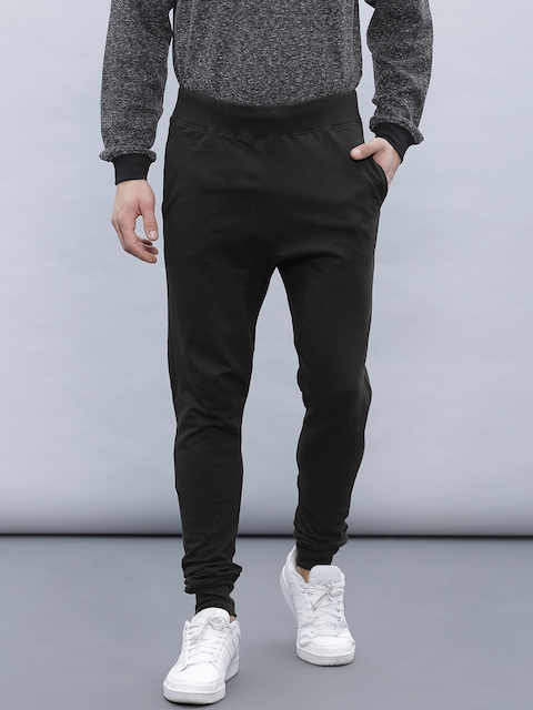 ether Men Black Solid Joggers