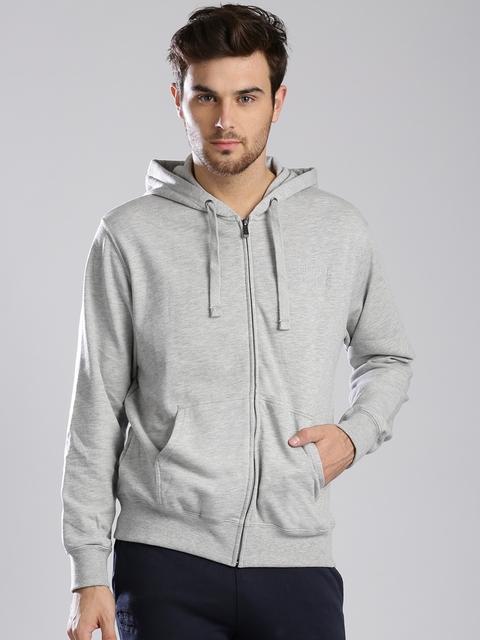 Russell Athletic Grey Melange Hooded Sweatshirt