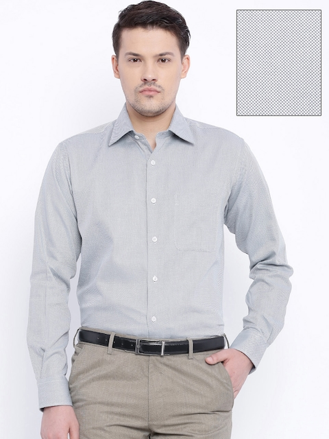 Raymond Grey Contemporary Fit Formal Shirt