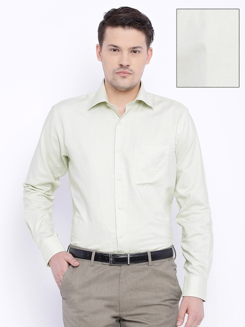 Raymond Light Green Contemporary Fit Formal Shirt