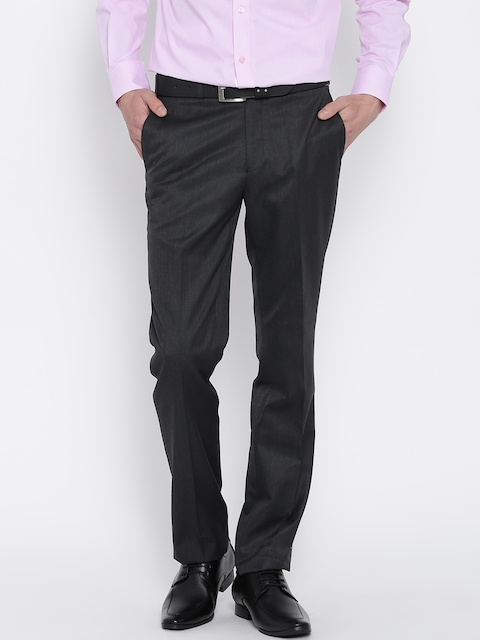 Raymond Charcoal Grey Contemporary Fit Formal Trousers