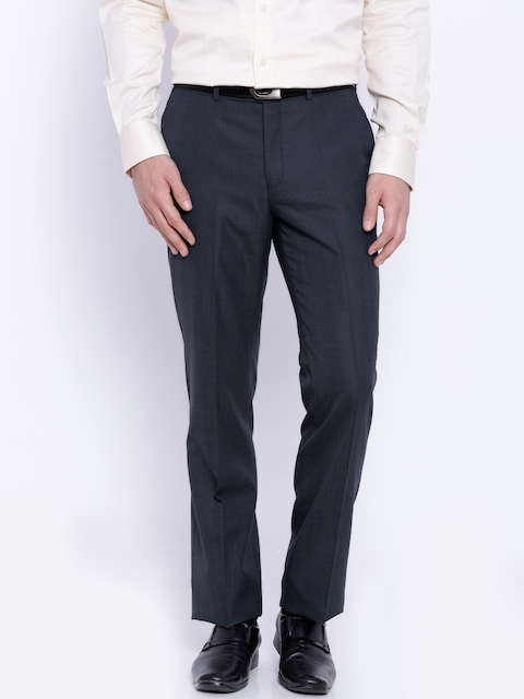 Raymond Navy Contemporary Fit Formal Trousers