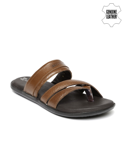 Red Chief Men Brown Genuine Leather Sandals  available at myntra for Rs.1895