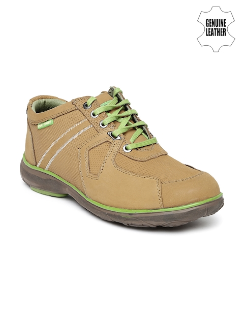 Red Chief Men Brown Genuine Leather Casual Shoes