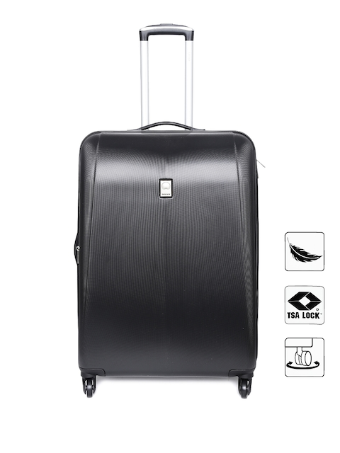 DELSEY Unisex Black Extendo 3 Large Trolley Suitcase
