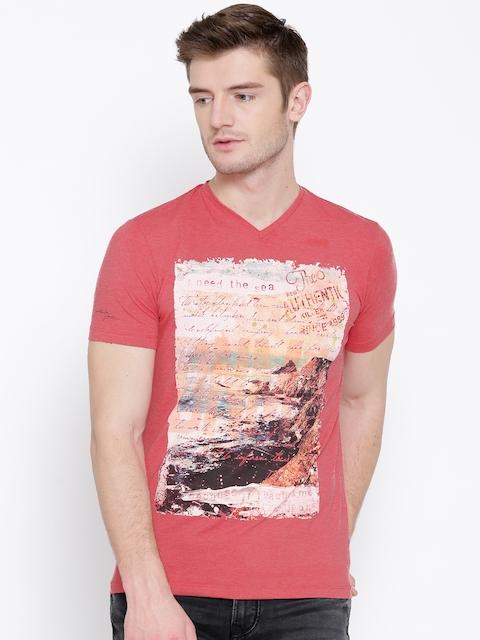 Killer Coral Pink Graphic Print T-shirt