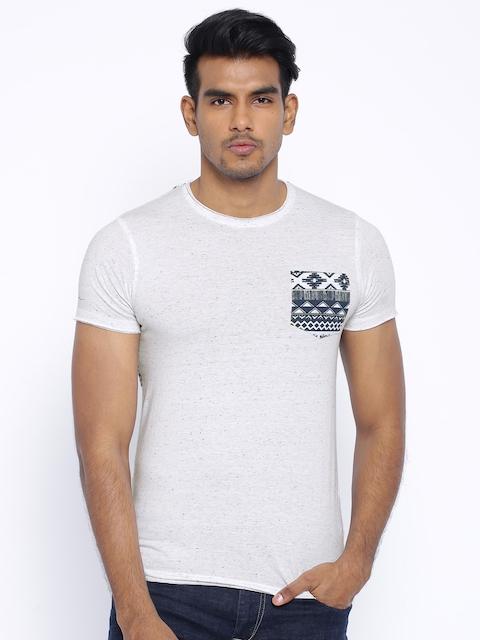 Killer White Speckled Printed T-shirt