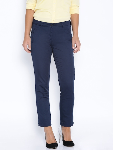 Arrow Woman Navy Formal Trousers