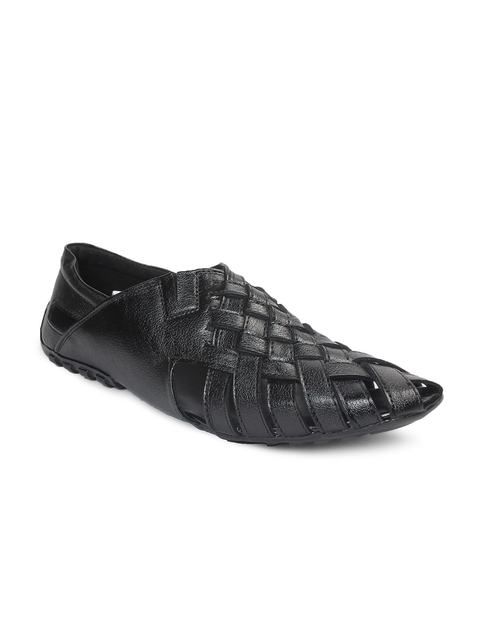 bacca bucci Men Black Leather Casual Shoes