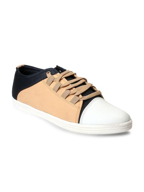 bacca bucci Men Tan Brown & Navy Casual Shoes