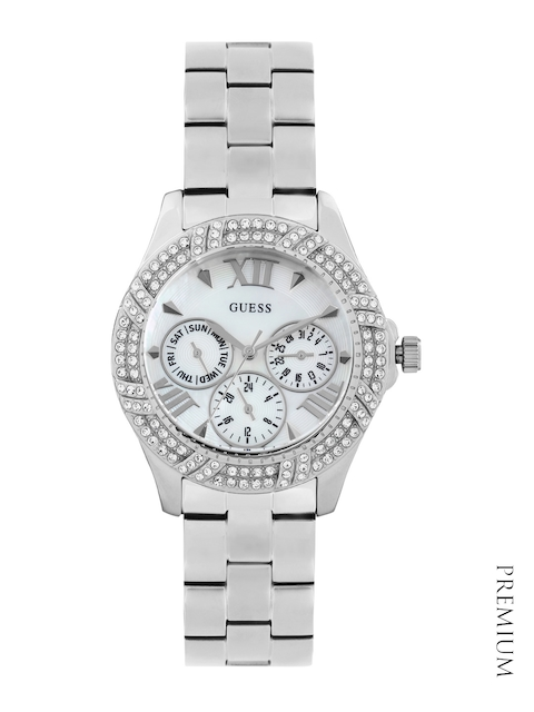 GUESS Women Pearly White Dial Watch W0632L2