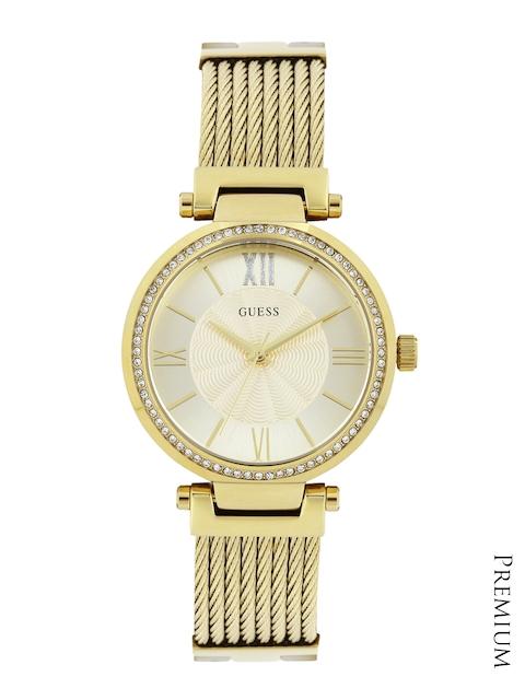 GUESS Women Gold-Toned Dial Watch W0638L2