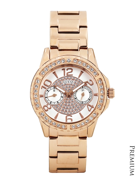 GUESS Women Off-White Dial Watch W0705L3