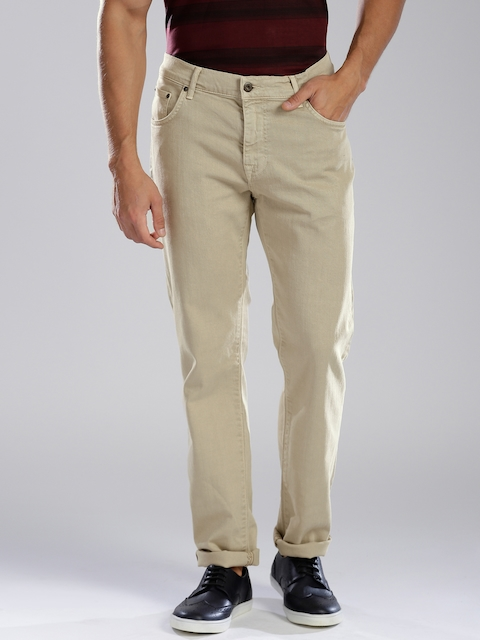GANT Men Beige Narrow Fit Jeans