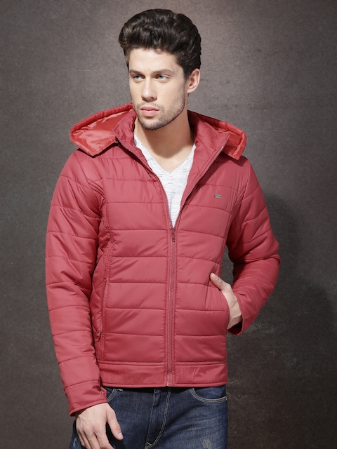 Roadster Red Quilted Jacket with Detachable Hood