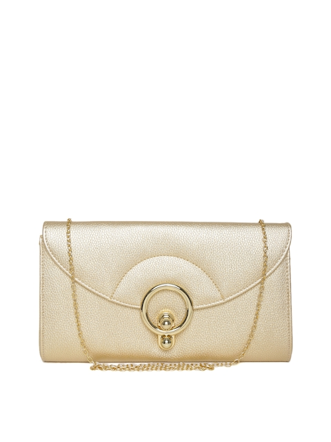 Lino Perros Gold-Toned Clutch with Chain Strap