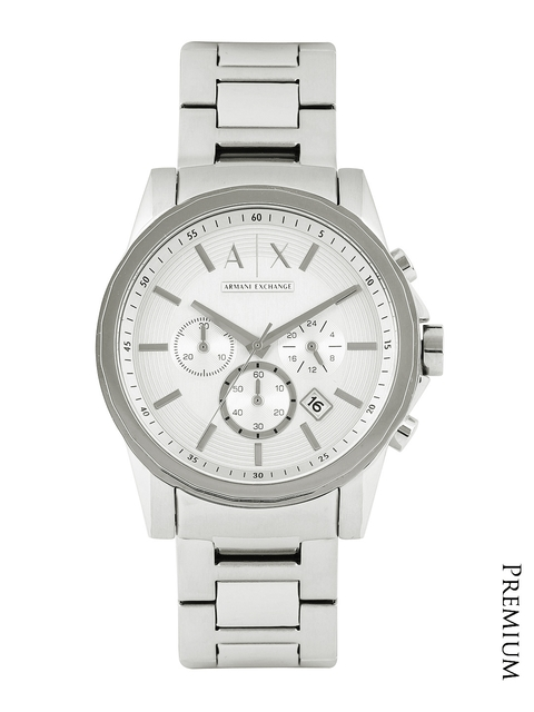 Armani Exchange Men Silver-Toned Dial Chronograph Watch AX2058  available at myntra for Rs.12145
