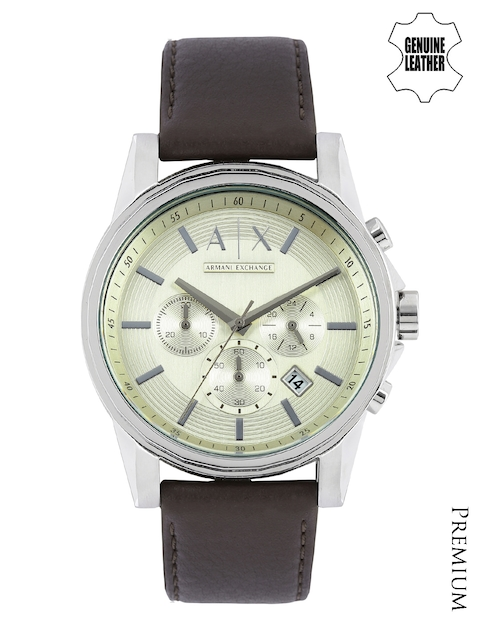 Armani Exchange Men Silver-Toned Dial Chronograph Watch AX2506  available at myntra for Rs.11495