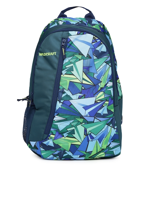 Wildcraft Unisex Teal Blue Printed Backpack