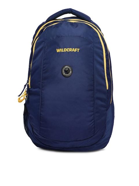 Wildcraft Unisex Blue Brand Logo Backpack