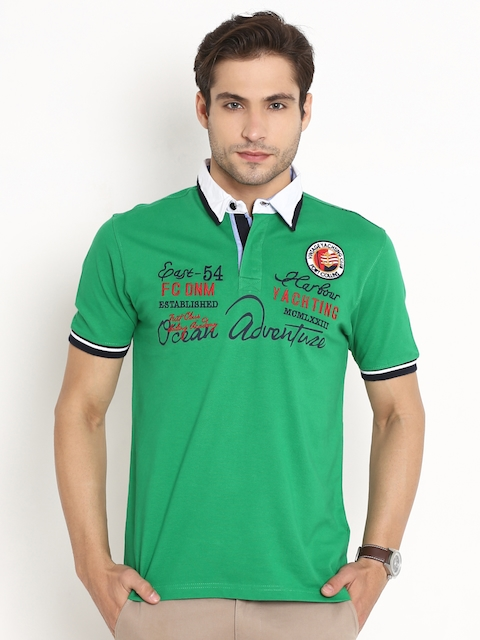 Fort Collins Green Embroidered Detail Polo T-shirt