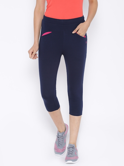 SDL by Sweet Dreams Active Navy Sports Tights