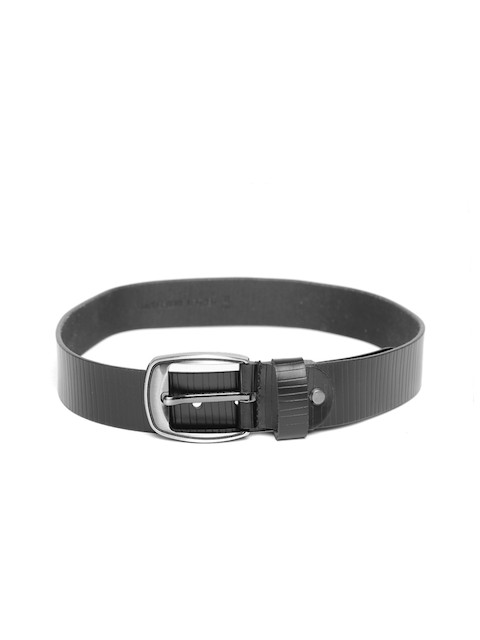 Roadster Men Black Textured Genuine Leather Belt