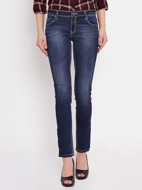 American Swan Blue Washed Slim Jeans
