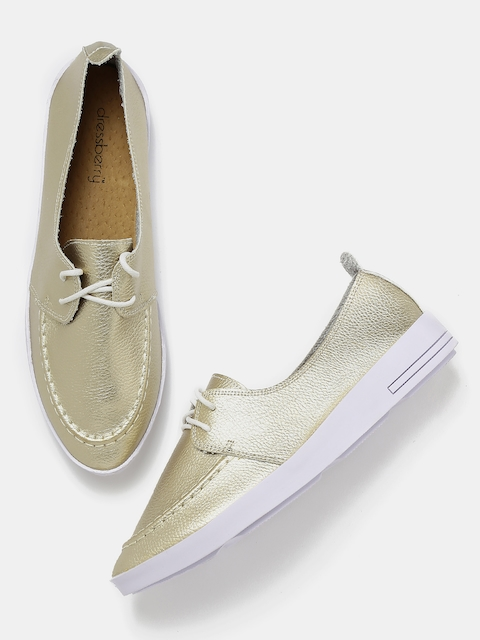 DressBerry Women Gold-Toned Casual Shoes