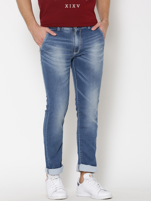 SPYKAR Blue Rover Washed Slim Stretchable Jeans