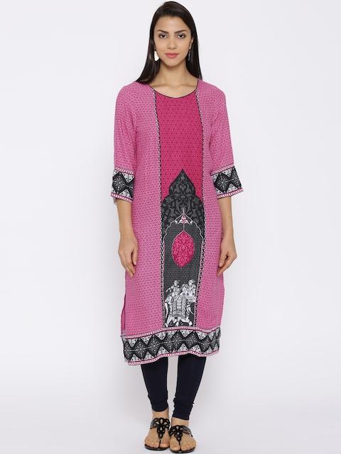 Aurelia Pink Printed Kurta