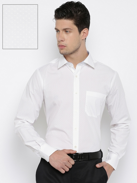Raymond Men White Contemporary Fit Formal Shirt