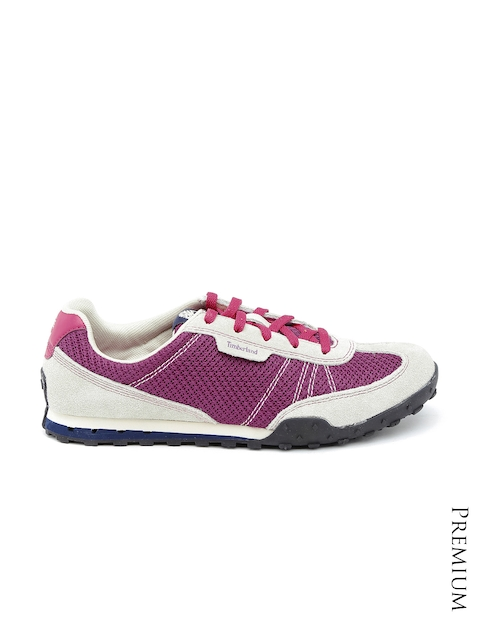Timberland Women Magenta & Grey Greeley Suede Sneakers