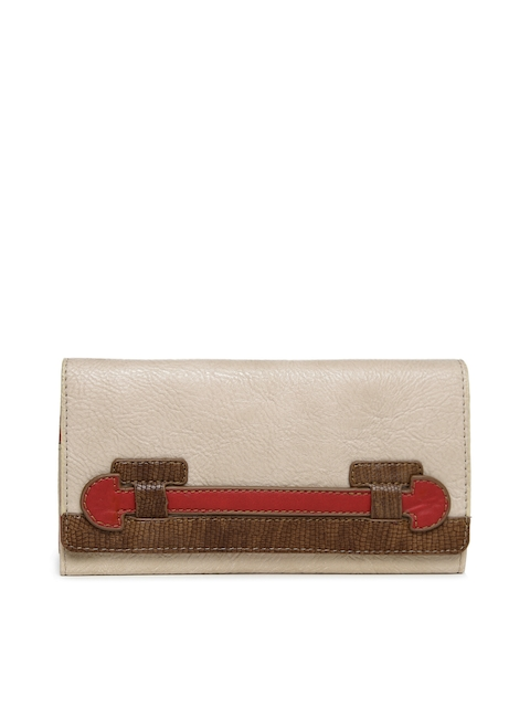 Baggit Women Beige Wallet  available at myntra for Rs.840
