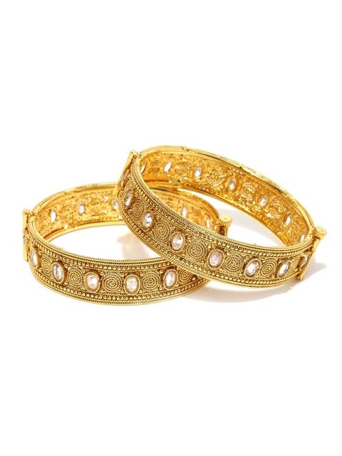Sukkhi Set of 2 Gold-Plated Bracelets