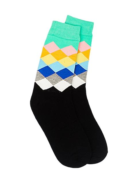 The Tie Hub Men Black Patterned Socks