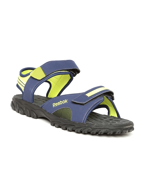 Reebok Men Navy & Lime Green Adventure Chrome Sports Sandals  available at myntra for Rs.1299